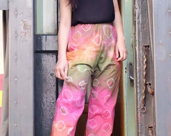 Tie dye pants Colorful pants Rainbow pants Harem pants women Rayon Fabric Palazzo pants Hippie pants