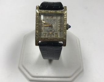 d370 Vintage Bedford Gold Tone Mechanical Wrist Watch 1930's