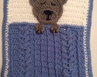 """Teddy Bear Lovey 12""""x14"""""""