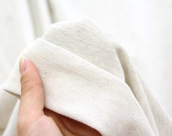 Franse Baby Terry Knit stof havermout door de werf