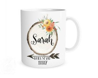 Bridesmaid Mugs, Bridesmaid Gifts, Bridal Party Gifts, Bridal Party, Wedding Party, Personalized, Coffee Mugs, Bridesmaid Proposal, Custom
