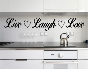 Vinyl Live, Laugh, Love Wall Decal, Inspirational Quote, Live, Laugh, Love Quote
