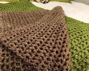 Super chunky blanket, Chunky Throw, Crochet Blanket, Knit Blanket, chunky afghan, baby blanket, client gift, throw, afghan, colors and sizes