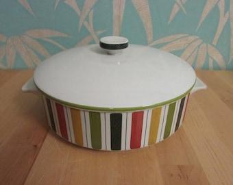"1960s Midwinter ""Mexicana"" round lidded casserole/tureen"