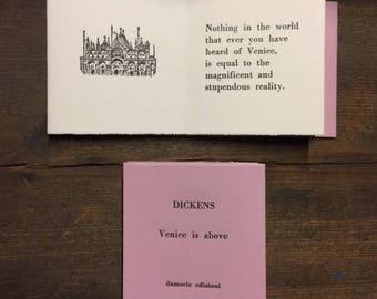 CHARLES DICKENS Artist's Book Letterpress