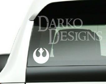 Star Wars Inspired Rebel Alliance Symbol Car / Truck / Laptop / Game Console Indoor  / Outdoor Vinyl Decal