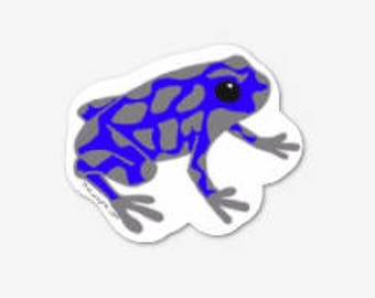 6 Dart Frog Sticker Pack