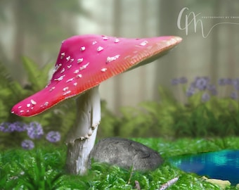 Toadstool digital background