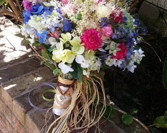 Custom Order Spring Wildflower Country Bridal Bouquet