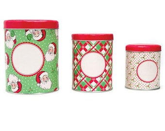 Moda Set of Three Nesting Tins Swell Christmas by Urban Chiks