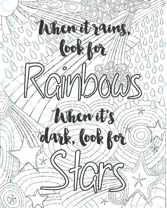 Adult inspirational coloring page printable 02 look for for Positive quotes coloring pages