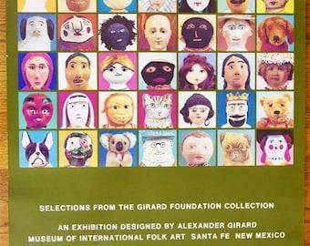 Vintage 1977 Original Alexander Girard Fantasy & Enchantment Museum Poster