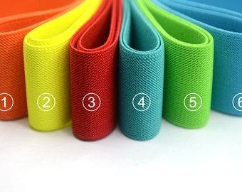 2 inch 50mm Wide Solid Colored Double-side Twill Elastic Band, Waistband Elastic,Sewing Elastic, Elastic Ribbon-1 Yard