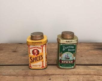 Radford Tin Salt & Pepper Shakers