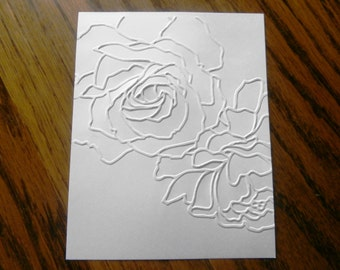 MANHATTAN FLOWER Roses Floral Embossed Card Stock Panels Perfect for Scrapbooking and Card Making - Set of 12
