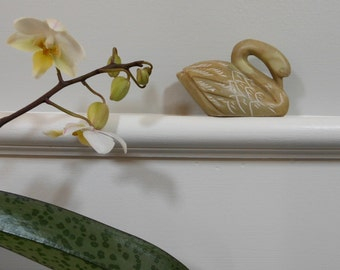 ON SALE!  Carved vintage soapstone swan figurine, c. 1990