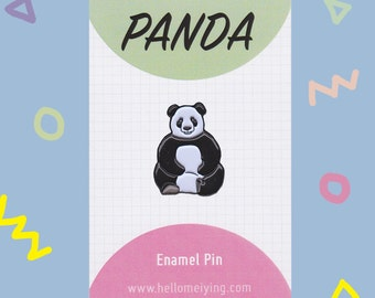 Panda Enamel Pin Badge