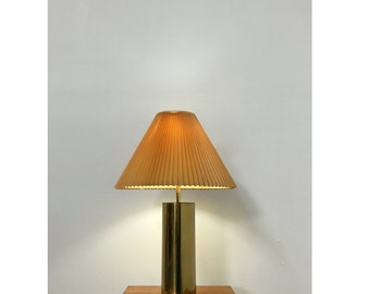 Vintage Mid Century Modern Brass Cylinder Table Lamp George Kovacs