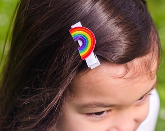 Rainbow Hair Clip Barrette
