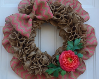 Summer Wreaths for Front Door Modern Wreath Summer Burlap Wreath Summer Door Wreaths Summer Decorations Summer Door Decor Gift for Mother