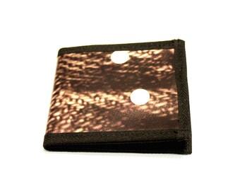 Unisex wallet brown white knitting pattern