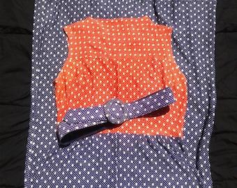Vintage 1960's - 1970's Retro Maxi Dress, Original Belt,  Retro Purple & Orange, Vintage Size 18, Gorgeous Colors