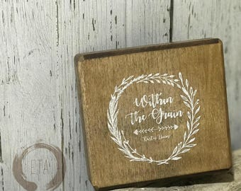 Custom Stamp 3.5 in (8.9cm) round rubber stamp
