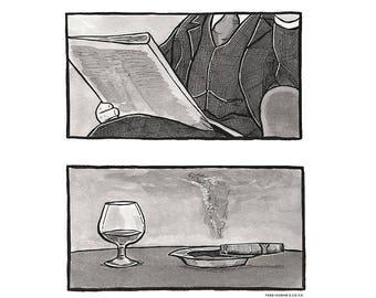 Sherlock Holmes #7 Inktober 2017 Art Print