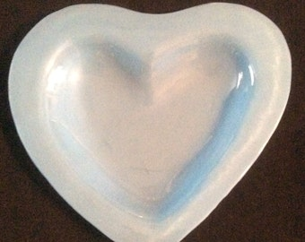 Annie Glass Blue Heart Dish