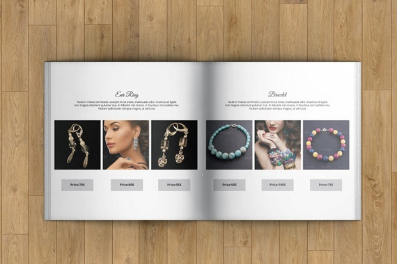 Jewellery Catalog Template Product Display Brochure
