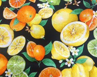BTHY Citrus, Blossoms & Bees - Joan Messmore for VIP by Cranston Print Works 100% Cotton