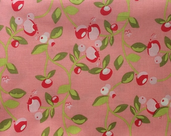 Hello Gorgeous ~ BTY Sale ~ Riley Blake Designs ~ Gorgeous Vine in Pink ~ Pretty Pink Blossoms w Chartreuse Green Leaves
