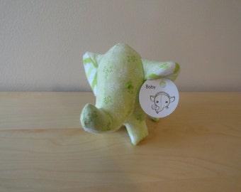 Baby Safe Tiny Stuffed Elephant- Green