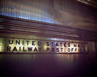 Train Wall Art, Post Office Railway, Train Decor