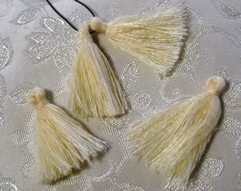 Ivory Beige Cotton Mini Tassels 30mm Trim Fringe