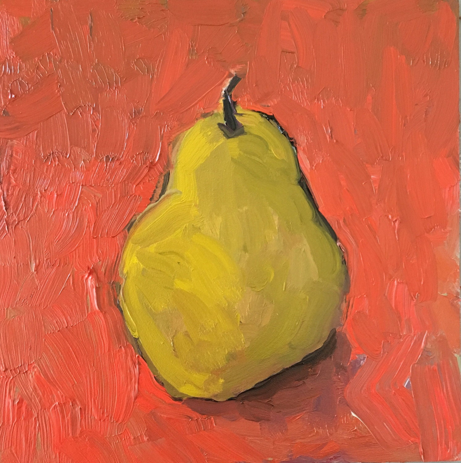Pear painting art and collectibles fine art still life