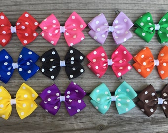 Polka Dot Bows / Hair Bows / Toddler Bows
