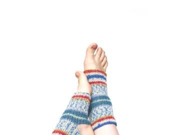 Yoga Socken gestrickt, Socken für Yoga, Tanz Socken stricken Wolle