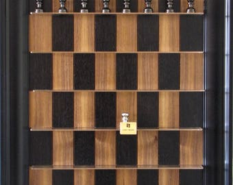 Black Walnut board with Aluminum Chess pieces included