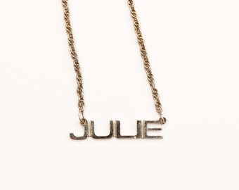 Vintage Name Necklace - Julie