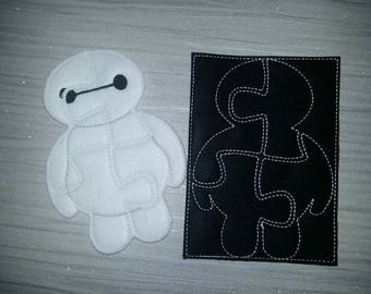 Felt Puzzle - Soft Puzzle - Toddler Learning - Toddler Gift - White Marshmallow - Baymax Marshmallow Puzzle - Puzzle Storage Pouch - Favor