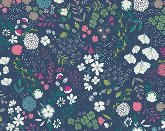 Art Gallery Fabrics, Blooming Ground Luscious, FCD-67156, FLOWER CHILD, Maureen Cracknell, Quilt Fabric, Cotton, Floral, Fabric By the Yard
