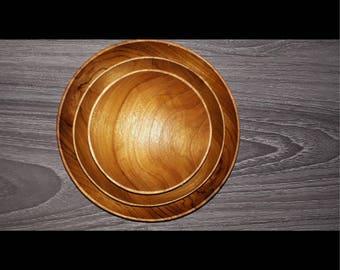 Set of three bowls