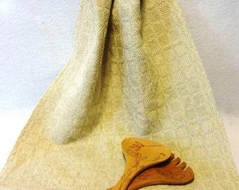 Handwoven Cotton/Linen Towel for Kitchen & Bath - Handtowel, Kitchen Towel, Handwoven Towel, Tea Towel, Breadcloth - #16-22 Oatmeal