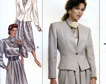 Butterick 6707 Sewing Pattern by Evan Picone for Misses' Jacket, Blouse and Skirt - Uncut - Size 12, 14, 16