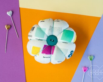 Flower Pin Cushion - Paint Chips