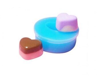 Miniature pie candy heart mold