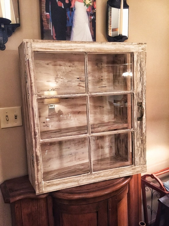On Sale Shabby Medicine Cabinet 6 Pane Window Cabinet