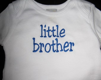 Little Brother Embroidered Onesie