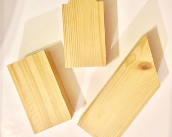 Various Sized Natural Wooden Building Blocks - DIY Wooden City Building Blocks - Solid Wood Blocks - Decor Your Own Gift